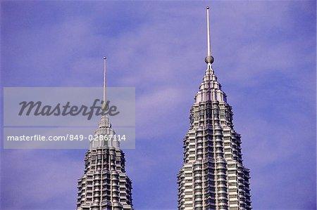 Dessus de Twin de Malaisie, Kuala Lumpur, des tours Petronas.