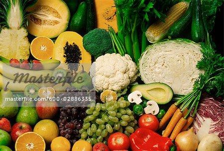 Variété de fruits et légumes
