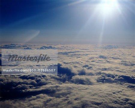 Sunburst, Wolken