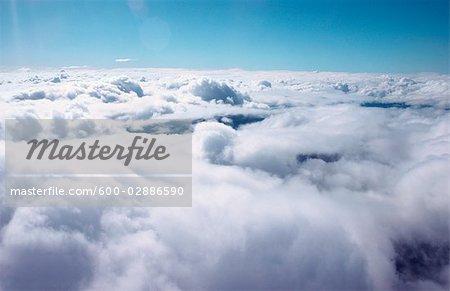 Wolkengebilde von oben