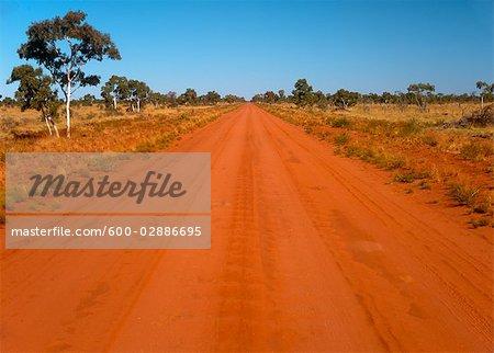 Dirt Road Near Jundah, Queensland, Australia