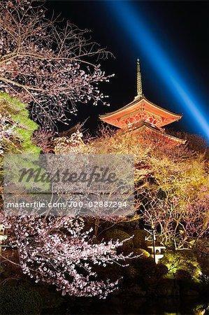 Temple Kiyomizu, Kyoto, préfecture de Kyōto, Kansai, Honshu, Japon