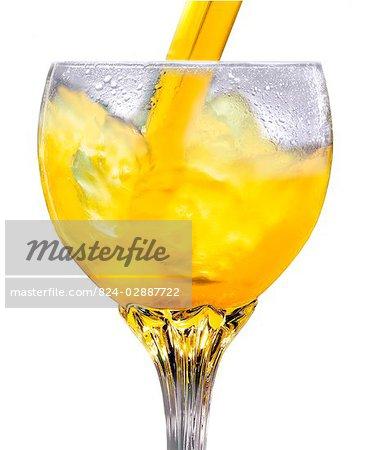 Orange jus - coulée