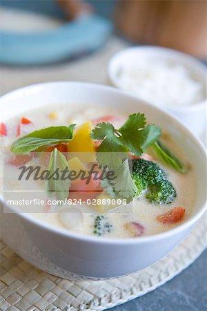 Thai-Gemüsesuppe - Rezept