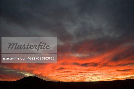Coucher de soleil avec petit décor de Silhouette & Sunset Hill