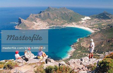 Aerial Scenic et touristes - péninsule