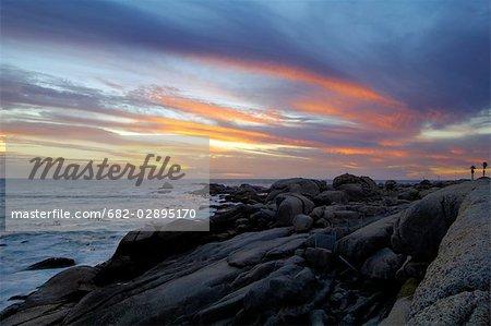 Paysage marin à Maidens Cove, Cape Town, Province du Western Cape, Afrique du Sud