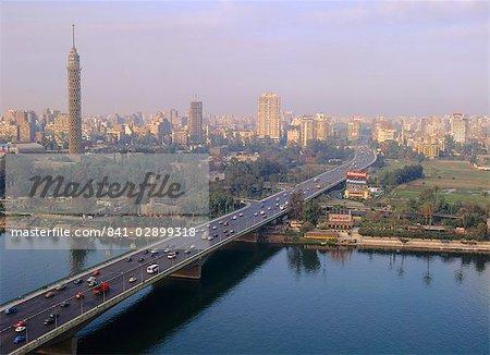 Pont 6 octobre, le Caire, Egypte