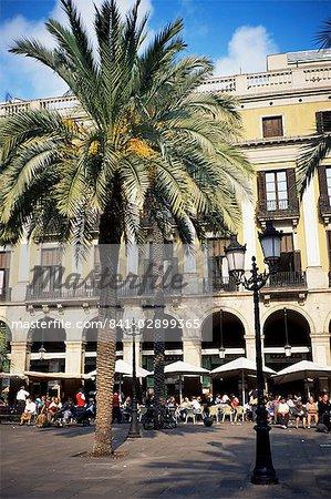 Placa Reial, Barcelone, Catalogne, Espagne, Europe