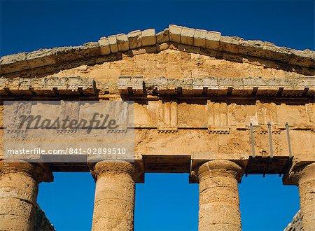 Temple grec, Ségeste, Sicile, Italie, Europe