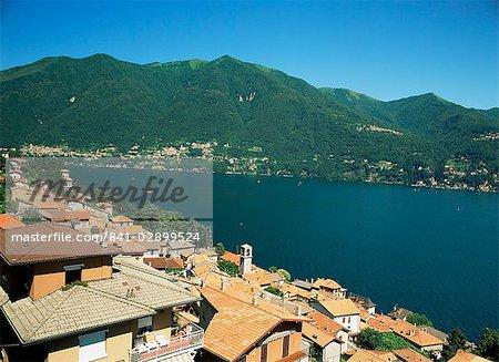 Vue de Laglio, lac de Côme, Lombardie, lacs italiens, Italie, Europe