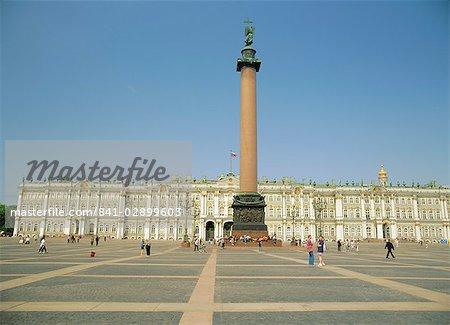 L'Ermitage et la place du palais, Saint-Pétersbourg, Russie