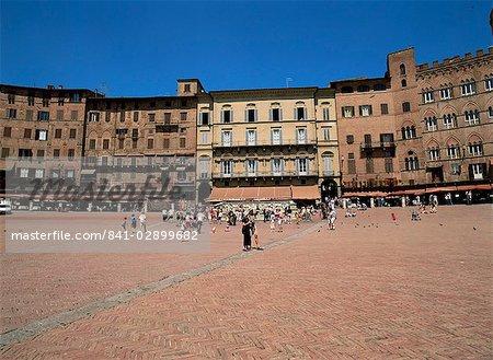 Piazza del Campo, Siena, Tuscany, Italy, Europe