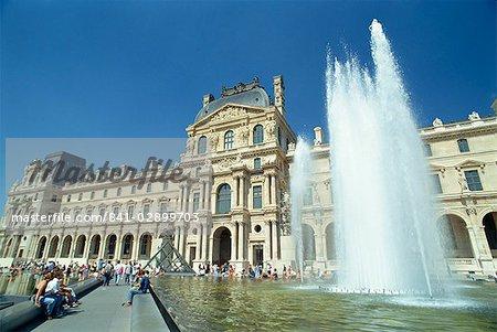 The Palais du Louvre, Musee du Louvre, Paris, France, Europe