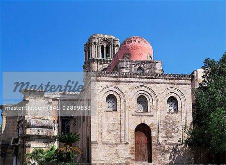 Chiesa di San Giovanni degli Eremiti, Palerme, Sicile, Italie, Europe