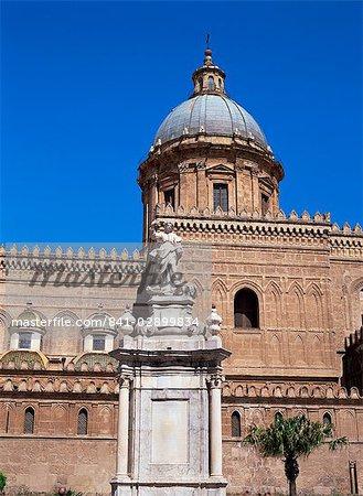 La cathédrale, Palerme, Sicile, Italie, Europe