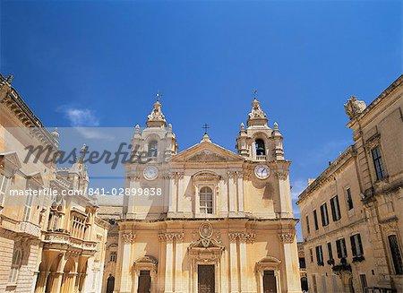 Europe, Mdina, Malte, la cathédrale de St. Paul