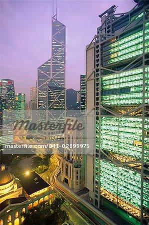 Central from Princes Building, Legco Bank of China, HK Bank, Hong Kong, China, Asia