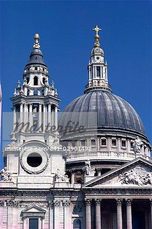 Detail der Saint Paul's Cathedral, London, England, Großbritannien, Europa