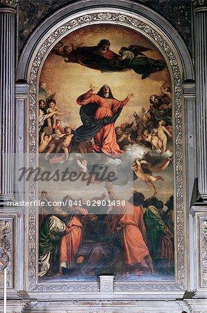 La prise en charge par Titien, S. Maria dei Frari, Venise, Vénétie, Italie, Europe