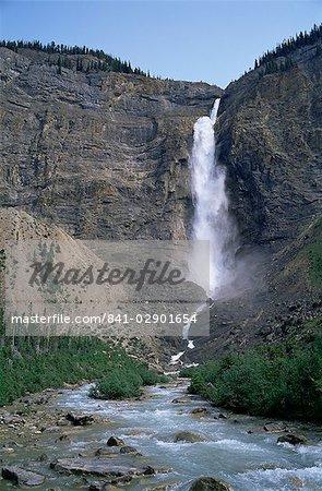 Takakkaw Falls, 254 m d'altitude, le Parc National Yoho, patrimoine mondial de l'UNESCO, Colombie-Britannique, Rocheuses, Canada, Amérique du Nord