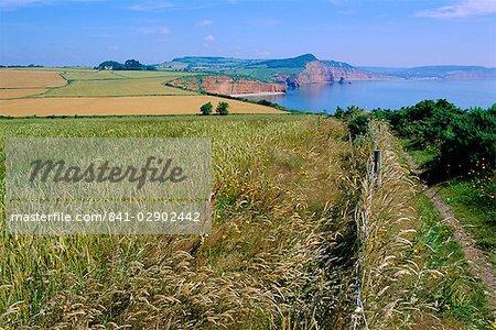 Chemin de la côte près de Sidmouth, East Devon, England, UK
