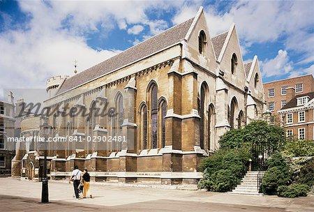 Die Temple Church, erbaut zwischen 1185 und 1240, Fleet Street, London, England, Vereinigtes Königreich, Europa