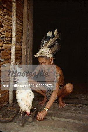 Chef de l'IBAN, rivière Delok, Sarawak, Malaisie, Asie du sud-est, Asie