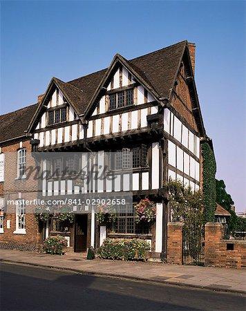 Nash maison, nouveau lieu, Stratford-upon-Avon, Warwickshire, Angleterre, Royaume-Uni, Europe