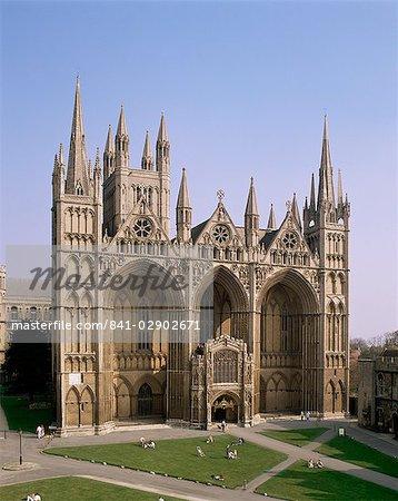 Cathédrale de Peterborough, Peterborough, Cambridgeshire, Angleterre, Royaume-Uni, Europe