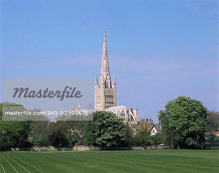 Kathedrale von Norwich in Norwich, Norfolk, England, Vereinigtes Königreich, Europa