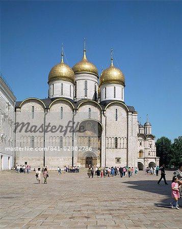 Cathédrale de l'Assomption, Kremlin, Site du patrimoine mondial de l'UNESCO, Moscou, Russie, Europe