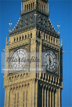 Big Ben, les maisons du Parlement, Westminster, Londres, Royaume-Uni, Europe