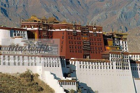 Le Potala palace, patrimoine mondial UNESCO, Lhassa, Tibet, Chine, Asie