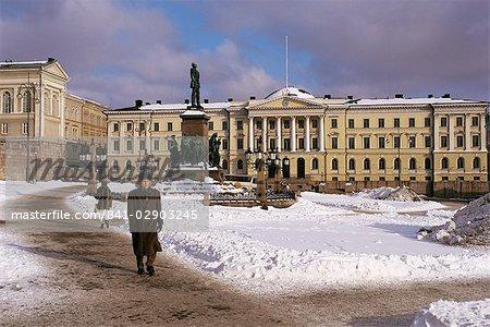 Hiver, Helsinki, Finlande, Scandinavie, Europe