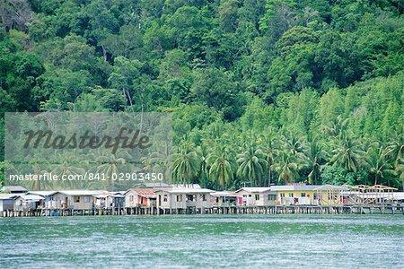 Kota Kinabalu, Sabah, sur l'île de Bornéo, Malaisie