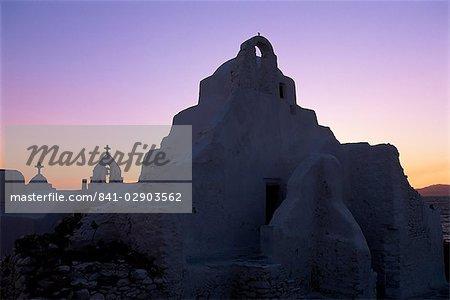 Église de la Panagia Paraportiani, île de Mykonos, Chora, Cyclades, Grèce, Europe