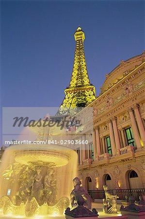 La tour Eiffel, Paris, Las Vegas, Nevada, États-Unis d'Amérique, Amérique du Nord