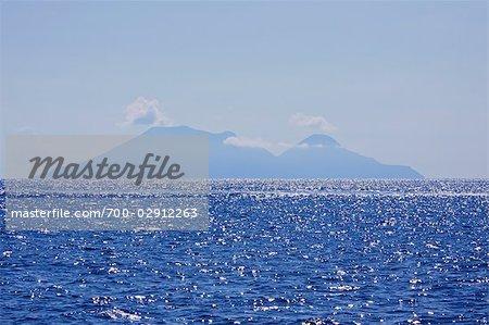 L'île de Lipari, îles éoliennes, mer Tyrrhénienne, Sicile, Italie