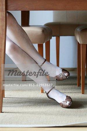 jambes d'une femme