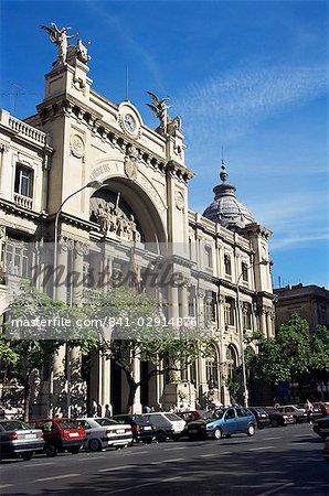 Bureau de poste et télégraphe Building, Valence, Espagne, Europe