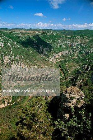 Vue du Roc des Hourtous du Gorges du Tarn, Lozère, Languedoc-Roussillon, France, Europe