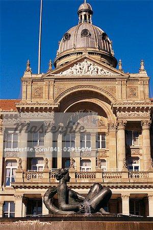 Fountain and Council House, city centre, Birmingham, England, United Kingdom, Europe