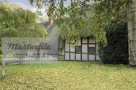 Cottage d'Anne Hathaway (épouse de William Shakespeare), Shottery, Stratford-upon-Avon, Warwickshire, Midlands, Angleterre, Royaume-Uni, Europe