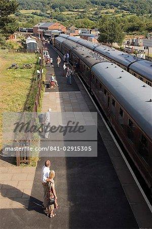 Le Gloucestershire et Warwickshire patrimoine vapeur et Diesel des chemins de fer, gare de Toddington, les Cotswolds, Midlands, Angleterre, Royaume-Uni, Europe