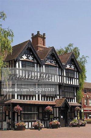 Altes Haus, gebaut im Jahre 1621, jetzt ein Museum, Hereford, Herefordshire, Midlands, England, Vereinigtes Königreich, Europa