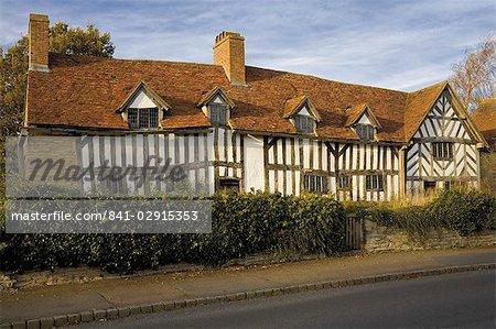 Maison de Mary Ardens, mère de la maison de Shakespeare, Wilmcote, Stratford-upon-Avon, Warwickshire, Midlands, Angleterre, Royaume-Uni, Europe