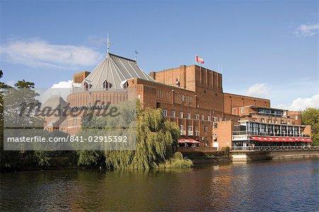 Shakespeare Memorial Theatre, Heimat der Royal Shakepeare Company, Stratford upon Avon, Warwickshire, England, Vereinigtes Königreich, Europa