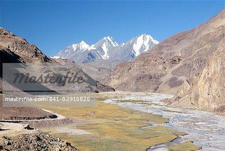 Descente du col principalement, 4550m, amont de la vallée de Spiti, Himachal Pradesh, Inde, Asie