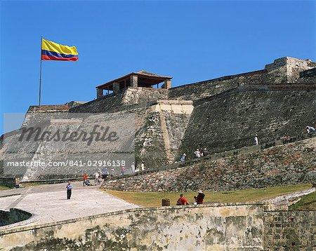 San Felipe fort, patrimoine mondial UNESCO, Cartagena, Colombie, Amérique du Sud